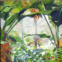 Mountain Cabbage inside Triptych, 40 x 80 inches, oil