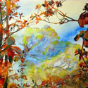 The Elfin Forest 2012, 46 x 34 inches, watercolor on canvas