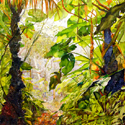 Mt. Scenery, 2012, 60 x 45 inches, watercolor on canvas