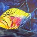 Trigger Fish, 9 x 12 inches, watercolor on canvas