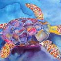 Turtle b, 16 x 20 inches, watercolor on canvas