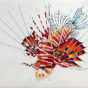 Lion Fish, 22 x 30 inches , watercolor on paper
